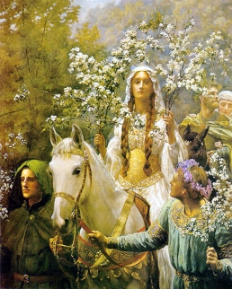 John_Collier_-_Queen_Guinevere's_Maying